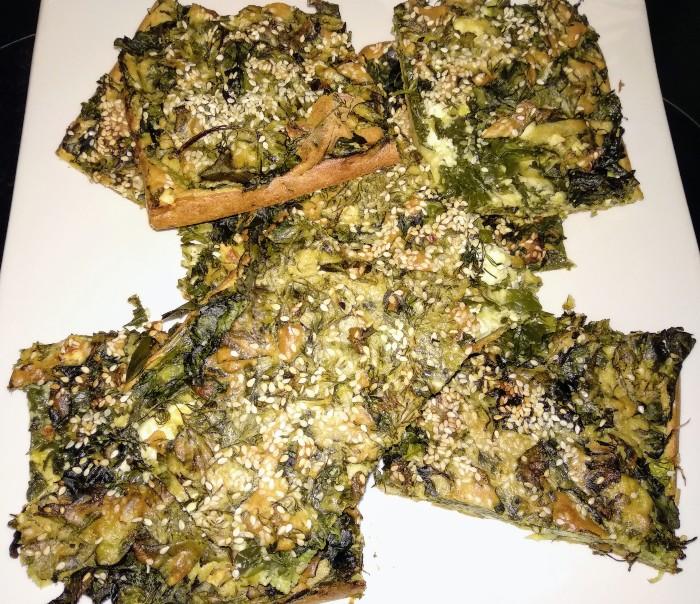 Σπανακοτυρόπιτα χωρίς φύλλο
